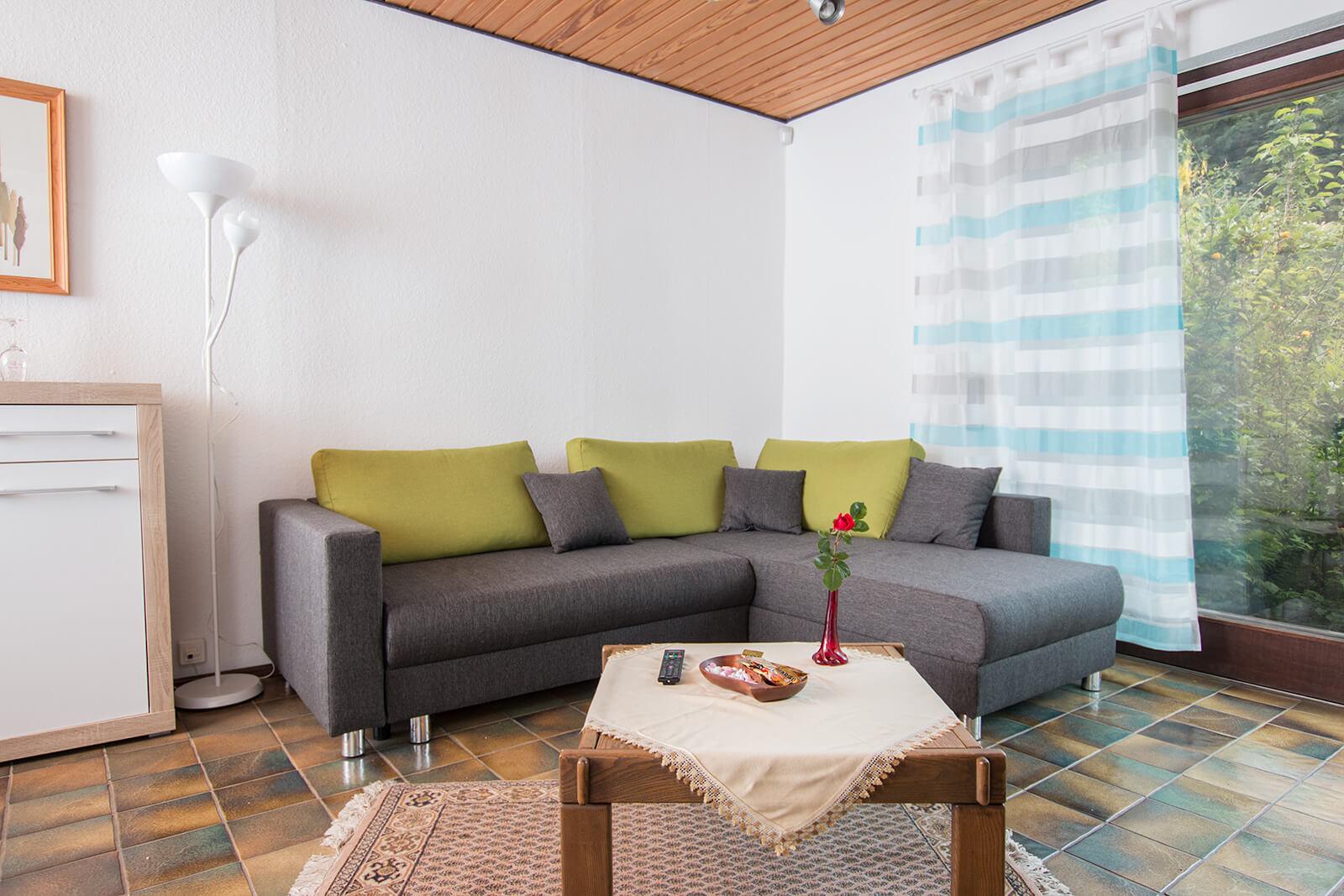 Wohnzimmer Ferienwohnung Rhein-Main bei Frankfurt am Main